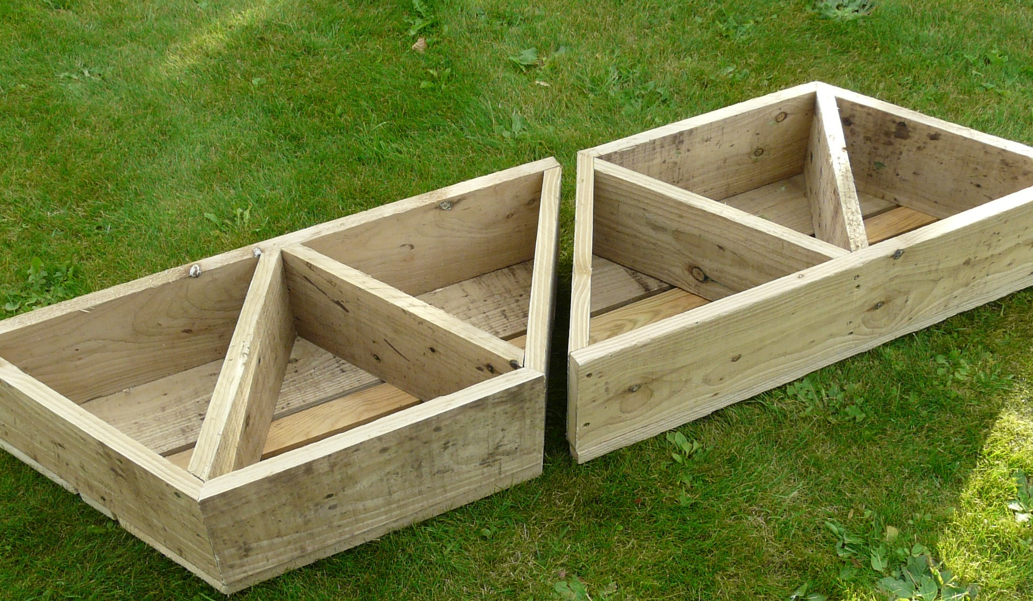 2 x large herb flower planters for balcony patio for Balcony planters